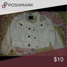 Girls Genuine Kids White Jean Jacket size 3t Kids White Jean jacket euc genuine kids Jackets & Coats Jean Jackets