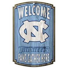 North Carolina Tar Heels Wood Sign