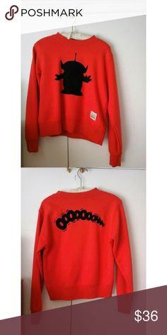 Toy Story Red Alien Sweater Toy Story Red Forever 21 Sweater. This item is no longer for sale anywhere because it is sold out. Purchased from another posher but I already had this item. PRICE IS FIRM Forever 21 Sweaters Crew & Scoop Necks