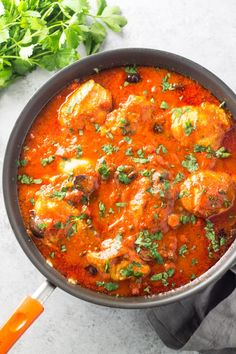 Filled with tender, juicy chicken and a savory, tomato-olive sauce, this Low Fodmap Chicken Cacciatore recipe is my kind of comfort food.