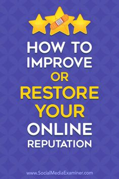Check out this list of tips on how to restore your online reputation! Marketing Quotes, Sales And Marketing, Business Marketing, Business Tips, Online Marketing, Social Media Marketing, Online Business, Digital Marketing, Business Coaching