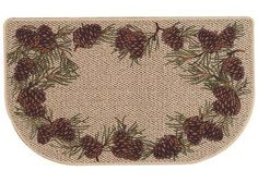 "Hearth Rug by Bacova Guild - 23"" x 40"" - Pine by Bacova Guild. Save 33 Off!. $19.99. Easy Care - Machine Wash In Cold Water. Non-Skid Backing. Flame Retardent Hearth Rug - Meets all Federal Flamibility Tests. Accent Rug by Bacova Guild. May Be Used As A Lite Duty Accent Mat. Fashionable, decorative and pleasing Hearth Rug by Bacova Guild. Perfect for use as a decorative accent rug or use it on the exterior of your home as a light-duty decorative welcome mat. Constructed of Durable, flame…"