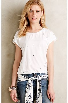 Paint Splattered Tee #anthropologie