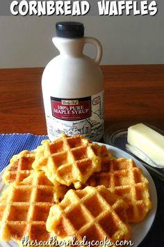 Breakfast Waffles, Breakfast Dishes, Breakfast Recipes, Pancakes, Breakfast Ideas, Pancake Recipes, Breakfast Sandwiches, Waffle Restaurant, Cornmeal Waffles
