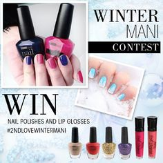 """Show us your Winter Mani 1) FOLLOW our account 2) TAG @2ndlovecosmetics and 3) HASHTAG #2ndlovewintermani in your photo for a chance to win a set of 6 Nail Polishes & a set of 2 Pout Plumping Lip Glosses! Enter by 12/16/14!! (Must live in the United States and profile must be set to """"public"""" for us to view entries)…"""