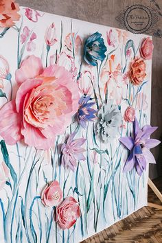 Beautiful Paper Flower Backdrop Wedding Ideas 10
