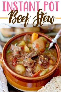 The Best Instant Pot Beef Stew really is the best ever and so easy! It's thick and stuffed full of beef, Little potatoes, carrots, onion and celery! stew instant pot recipes THE BEST INSTANT POT BEEF STEW Meat Recipes, Crockpot Recipes, Cooking Recipes, Easy Instapot Recipes, Easy Stew Recipes, Simple Recipes, Grilling Recipes, Potato Recipes, Instant Pot Pressure Cooker