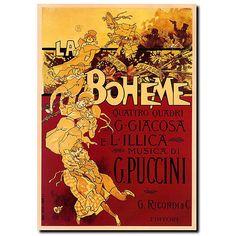 Adolfo Hohenstein 'Boheme-Puccini' Gallery-wrapped Art