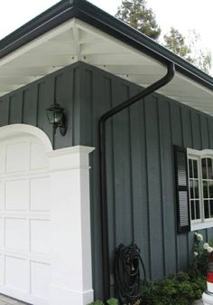 Dark Grey Exterior Black Trim White Windows Exterior