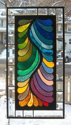 A FINE FEATHERED COLLECTION** Stained Glass Window Panel (Signed and Dated)