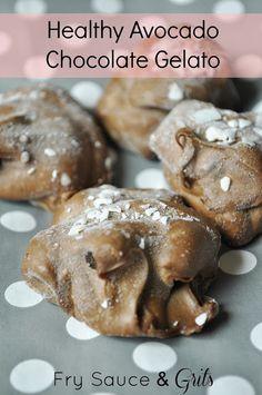Healthy Chocolate Avocado Gelato from FrySauceandGrits.com #healthy #avocado #chocolate #gelato #recipe #dessert