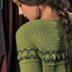 Sarabande - a burst of color and some bobbles on the lower yoke. Knit your own: http://ift.tt/2dLbTXB - #knitting #knitstagram #twistcollective #sarabande #knitbobbles #knittersofig #knitters #knittersof #knittersoftheworld #knittersofinstagram #knittersofravelry #knit #strikk #instaknit #instastrikk #stricken #strikking #garterstitch