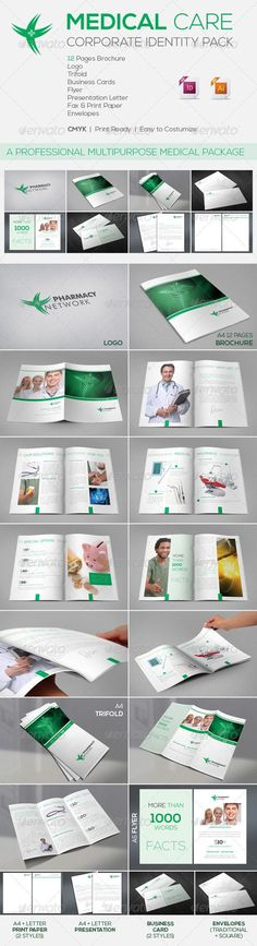 Medical Care | Corporate Identity Package EPS Template • Only available here ➝ http://graphicriver.net/item/medical-care-corporate-identity-package/3109328?ref=pxcr
