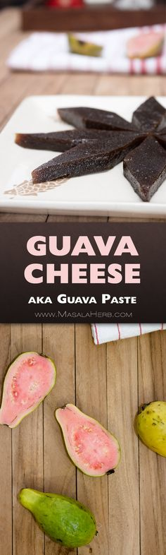 Guava Paste is the name for a popular sweet made with fresh Guavas. It's also known as Guava cheese. Guava Cheese Recipes, Guava Recipes Healthy, Vegetarian Recipes, Indian Beef Recipes, Goan Recipes, Yummy Recipes, Amazing Recipes, Delicious Desserts, Dinner Recipes