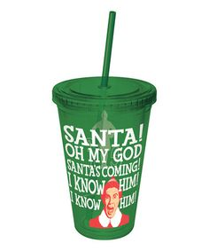 Take a look at this 'Santa's Coming' 16-Oz. Tumbler by ICUP Inc. on #zulily today!