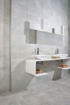 Colección Coney.  Disponible en 30x60, 60x60, 22.5x90 y 45x90 cm.   #coney #tauceramica #ceramica #tile #porcelanico #porcelaintile #cemento #cement #baño #bathroom #interiordesign