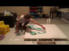 """48"""" x 48"""" Large Acrylic Dirty Pour video #3 - YouTube"""