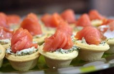 Pastry Cups w/ Salmon Appetizer Recipes, Appetizers, Christmas Salad Recipes, New Year's Food, Catering Menu, Tasty, Yummy Food, Russian Recipes, Food For Thought