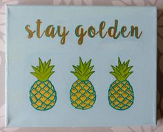 Sunny, fresh, and fun - decorate your bedroom, apartment, or office space with this cute pineapple canvas! Custom & hand-painted, this canvas