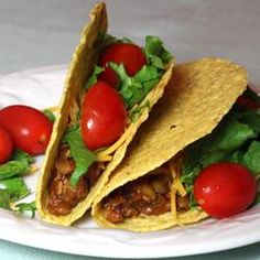 Tasty Lentil Tacos Recipe - A great healthy substitute for ground beef tacos with no flavor lost! #myplate