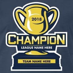 2cbf1b050 Customizable Fantasy Football League Champion t-shirt. If you re in a league