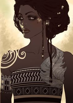 African queen  https://www.facebook.com/pages/Sa%C3%AFna6-Illustrations/229962923684950?ref=hl