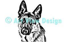 Our German Shepherd Design || Original and one of a kind || Pattern can be used for everything and every cutting machine || ♡