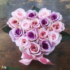 Romantikus szív rózsadoboz, dekoráció (EraberaPorteka) - Meska.hu Rose, Flowers, Plants, Diy, Pink, Bricolage, Do It Yourself, Plant, Roses