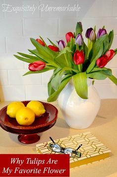 Tulips are my favorite flower. Here are some great tips and tricks to make them last and stand out in your decor. Come peek!