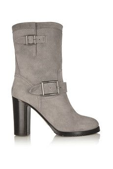 Jimmy Choo Dart lizard-effect suede boots | THE OUTNET