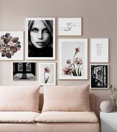 3 Steps To A Perfect Gallery Wall Ft Desenio is part of Room Decor Boho Wall - I've wanted to create a gallery wall in our lounge for months now but to be honest, it's always seemed like a bit of a mammoth task and I wasn't quite sure where to… Home Living Room, Living Room Designs, Living Room Decor, Bedroom Decor, Bedroom Couch, Inspiration Wand, Gallery Wall Layout, Frames On Wall, Ikea Frames