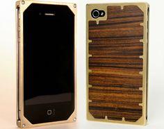 Brass i-phone case from exovault.com