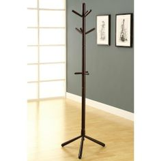 Coat Rack Finish: Cappuccino by Monarch Specialties Inc.. $43.57. Triple tiered. 0. Assembly required. Cappuccino finish. Solid wood construction. I 2004 Finish: Cappuccino Features: -Contemporary style. Construction: -Solid wood construction.