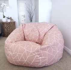 Bean Bag Cover, Cut Gkass Bean Bag, Blush Pink Kids, Teenagers, Adults, Bean Bag Cover, Pink Bean Bag, Red and Blue, Girls. Lounge Bedroom by MyBeachsideStyle on Etsy