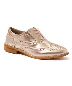 Love this Rose Gold Oxee Oxford on #zulily! #zulilyfinds