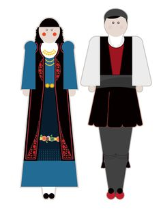 illustrations based on the traditional garments of Greece.Goal of the project is to present each regional costume in a modern way using basic shapes but close to the originals forms, colors and patterns. Basic Shapes, Traditional Fashion, Motor Activities, Fine Motor, Greece, Darth Vader, Victorian, Costumes, History