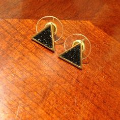 Black Pave Textured Earrings Brand new, never worn ....(The more you buy, the more I lower my prices so bundle & save!!) Jewelry Earrings