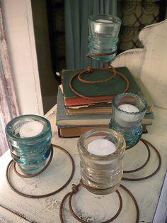 Antique Insulator Tea Light Holder by TessHome on Etsy, $20.00