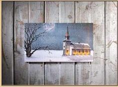 Canvas-Candle Light Service (Radiance Lighted) (9 x 16)