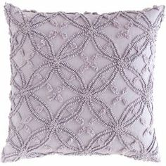 Add a pop of color to your favorite chaise or arm chair with this lovely cotton pillow, showcasing a textured geometric motif.   Product: PillowConstruction Material: CottonColor: Dusty irisFeatures: Textured surfaceGeometric motifFeather down insert included