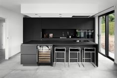 Best Kitchen Designs, Cuisines Design, Living Room Kitchen, Scandinavian Interior, Interior Design Kitchen, Cool Kitchens, Kitchen Cabinets, Construction, House Design