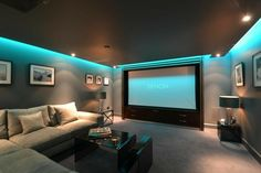 Basement media room.