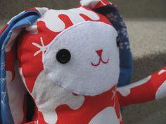 Jack Rabbit Softie.  Free pattern