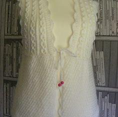 Ravelry: Modesty Vest Top pattern by maybebaby designs Baby Knitting Patterns, Knitting Blogs, Knitting Designs, Baby Patterns, Crochet Patterns, Knit Vest Pattern, Crochet Jacket, Top Pattern, Knit Crochet
