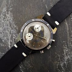 Vintage Cimier Panda Dial Chronograph Watch // 42mm Oversize   Etsy Save The Pandas, Timex Watches, Blue Accents, Watch Case, Stainless Steel Bracelet, Digital Watch, Vintage Watches, Vintage Men, Chronograph