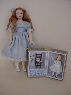 HELLO DOLLY: Alison with her Alice in Wonderland Doll-trunk