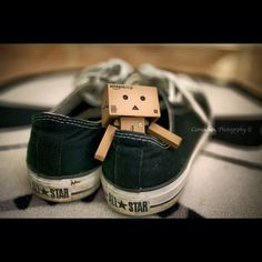 toy inside black all star, converse shoes