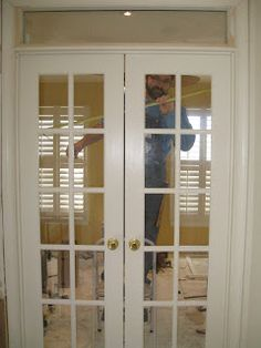 Home office space on pinterest interior french doors for Cheap interior doors home depot
