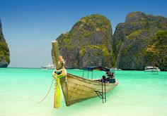 Maya Bay - Thailand  #ocean #sea #beach #heaven
