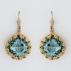 Find vintage inspired crystal earrings set in antique gold & antique silver filigree designs.  Fabulous for bridesmaids, parties and every day wear. Designed by La Vie Parisienne.